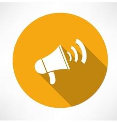 megaphone - loudspeaker icon vector image