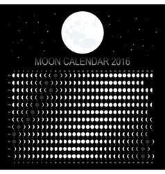 Moon calendar 2016 vector image