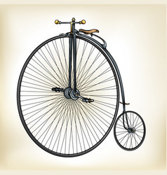 old time bike vector image