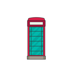 Phone booth flat icon vector