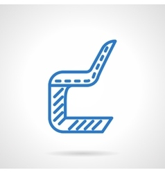 Plastic chair blue line icon vector image vector image
