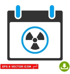 Radioactive calendar day eps icon vector