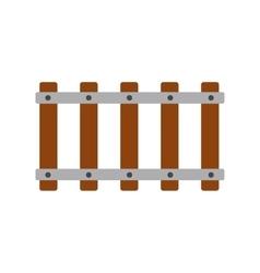 Railroad icon flat vector image