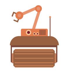 Robot crane icon cartoon style vector