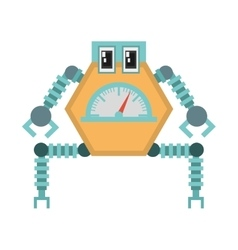 Robot multi-task technology pincers arms vector