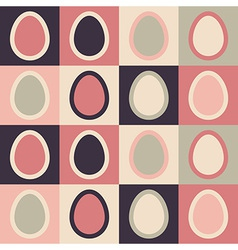 Seamless Easter pattern with abstract eggs vector image vector image