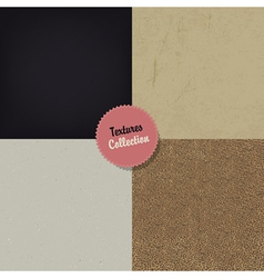 Set of four textures vector