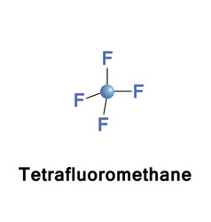 Tetrafluoromethane carbon tetrafluoride vector