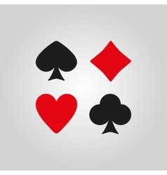The Playing Card Suit icon vector image vector image