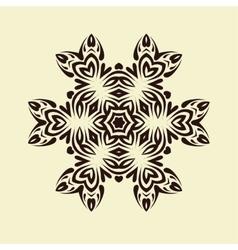 Vintage decorative mandala vector image