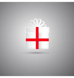 White Gift Box vector image
