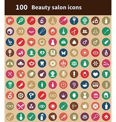 100 beauty salon icons vector