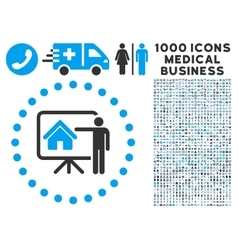 Realtor presentation icon with 1000 medical vector