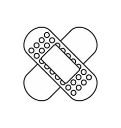 Medical patch icon outline style vector
