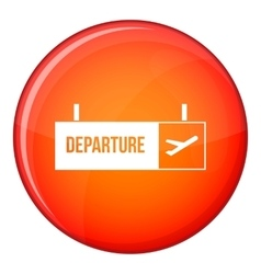Airport departure sign icon flat style vector