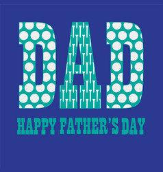 Fathers day with golfball pattern vector