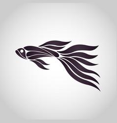 guppy fish logo icon design vector image