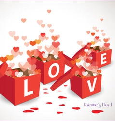 Valentine gift box vector
