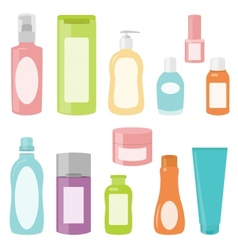 Set 2 of cosmetics containers vector