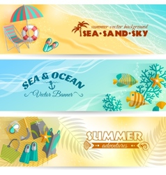 Summer holiday vacation banners set vector