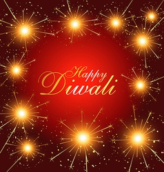 Diwali fireworks vector