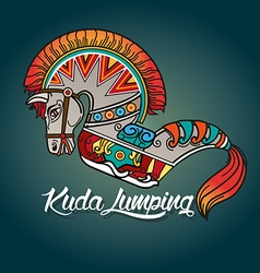 Kuda Lumping or horse braid vector image