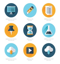 Office icons flat design vector