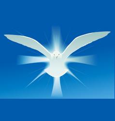 Holy spirit symbol vector image