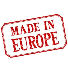 Europe - made in red vintage isolated label vector