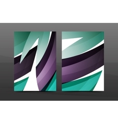 Color waves abstract background geometric a4 vector