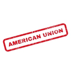 American Union Text Rubber Stamp vector image vector image
