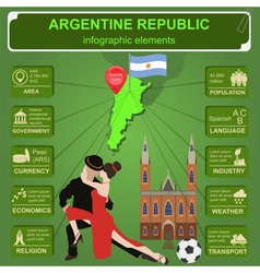 Argentina infographics statistical data sights vector image