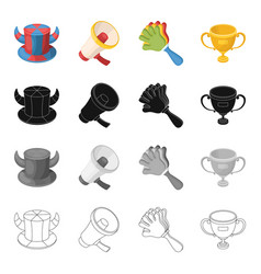 attributes symbols sport and other web icon in vector image vector image