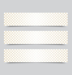 banners with abstract mosaic background vector image