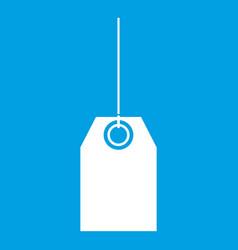 Blank black tag icon white vector