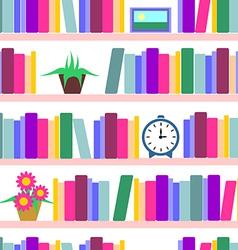 Bookshelf seamless vector image