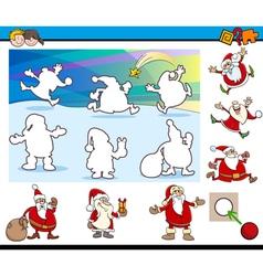 cartoon educational game vector image vector image