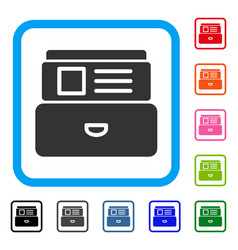 catalog framed icon vector image