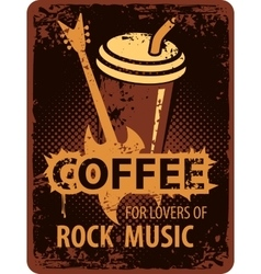Coffee lovers of rock music vector image vector image