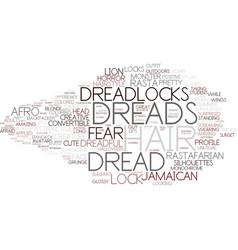 Dread word cloud concept vector
