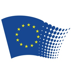 European union flag - EU vector image vector image