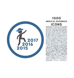 Gentleman Steps Years Rounded Icon with 1000 Bonus vector image vector image
