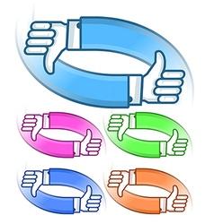 Hand like logo vector