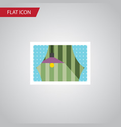 Isolated glass frame flat icon curtain vector