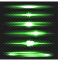 Lens flares set vector image vector image