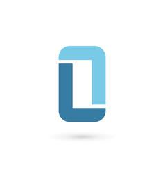 letter l mobile phone logo icon design template vector image