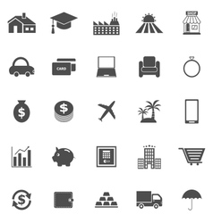 Loan icons on white background vector