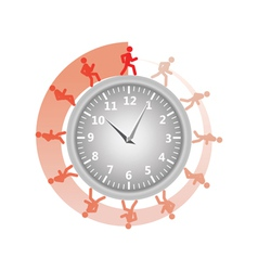 man running around clock vector image