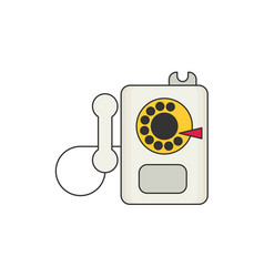 payphone flat icon vector image vector image