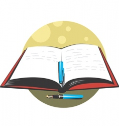 pen and book vector image
